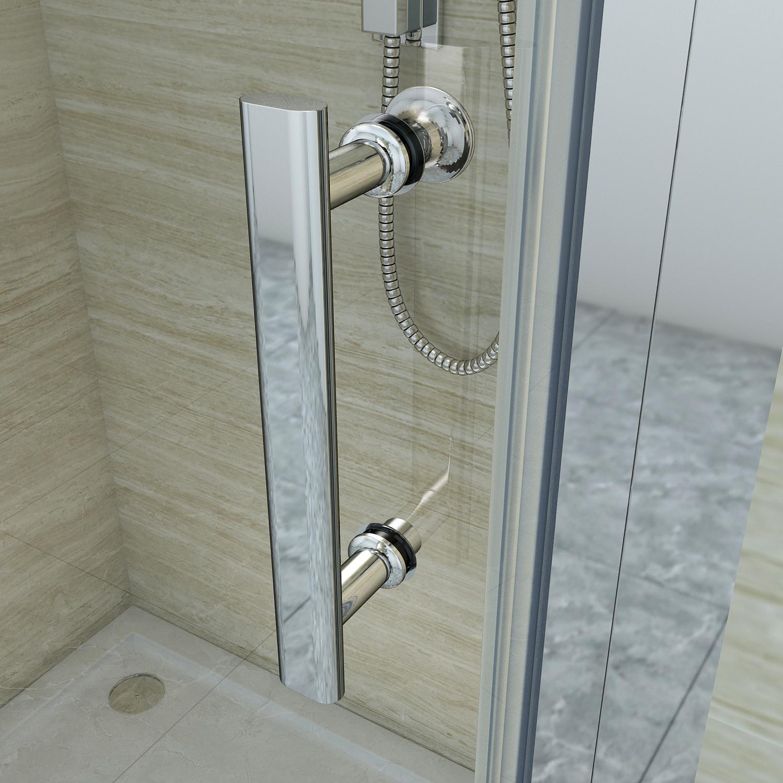 Frameless Shower Screen Bifold Swing Enclosure Door Larger
