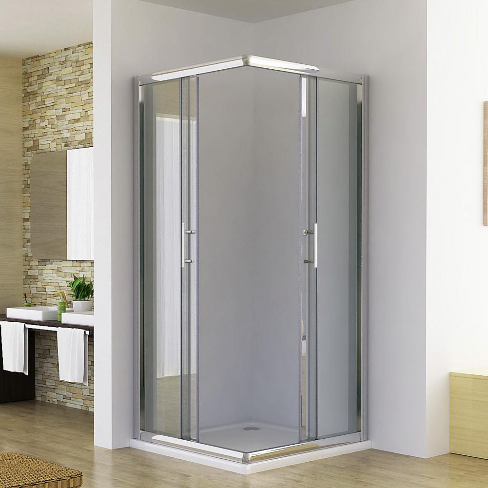 900mm Square Shower Screen Enclosure Sliding Door Corner