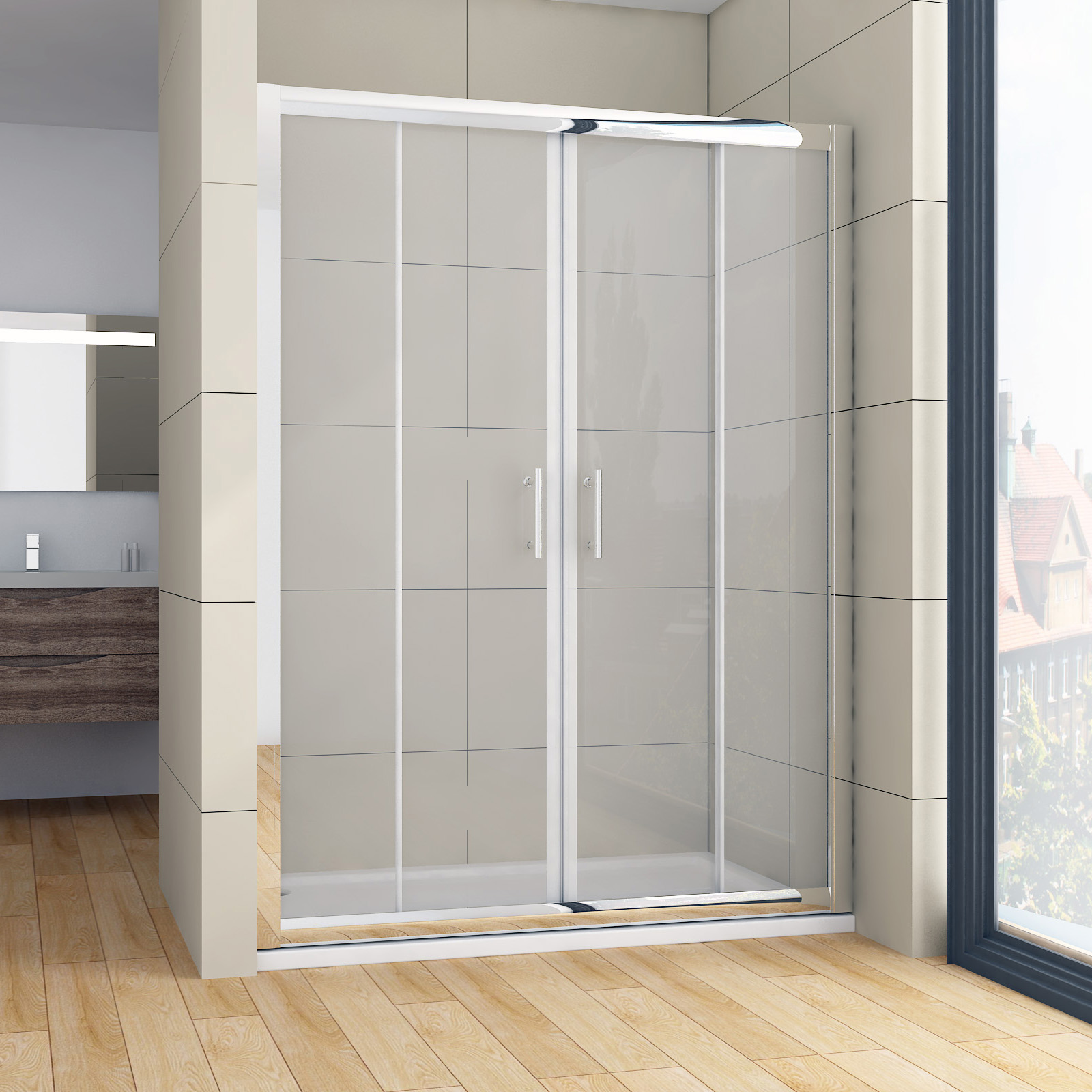1200 1700x1900mm double sliding door flamed shower screen for 1300 sliding shower door