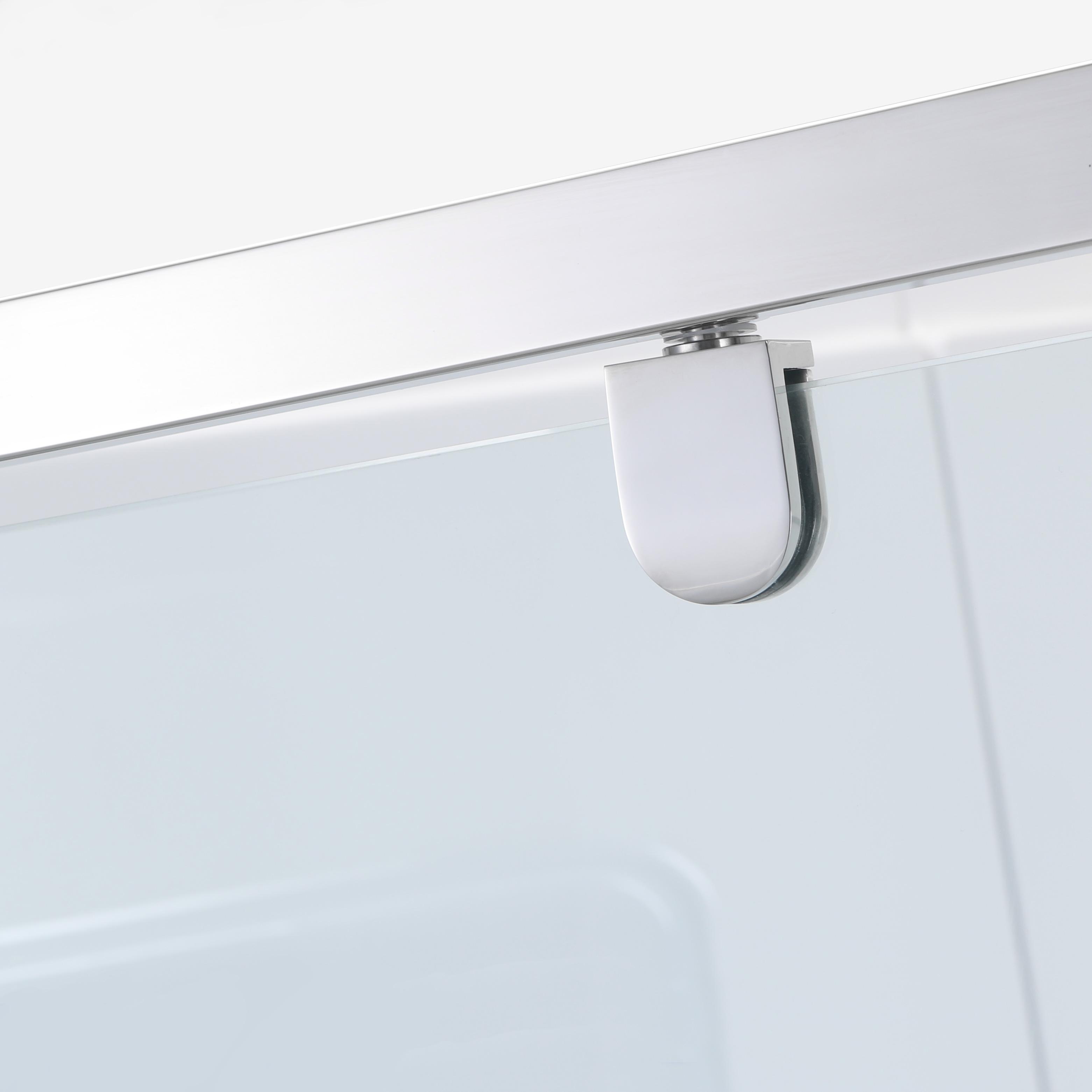 Corner Shower Screen Square Sliding Double Pivot Diamond