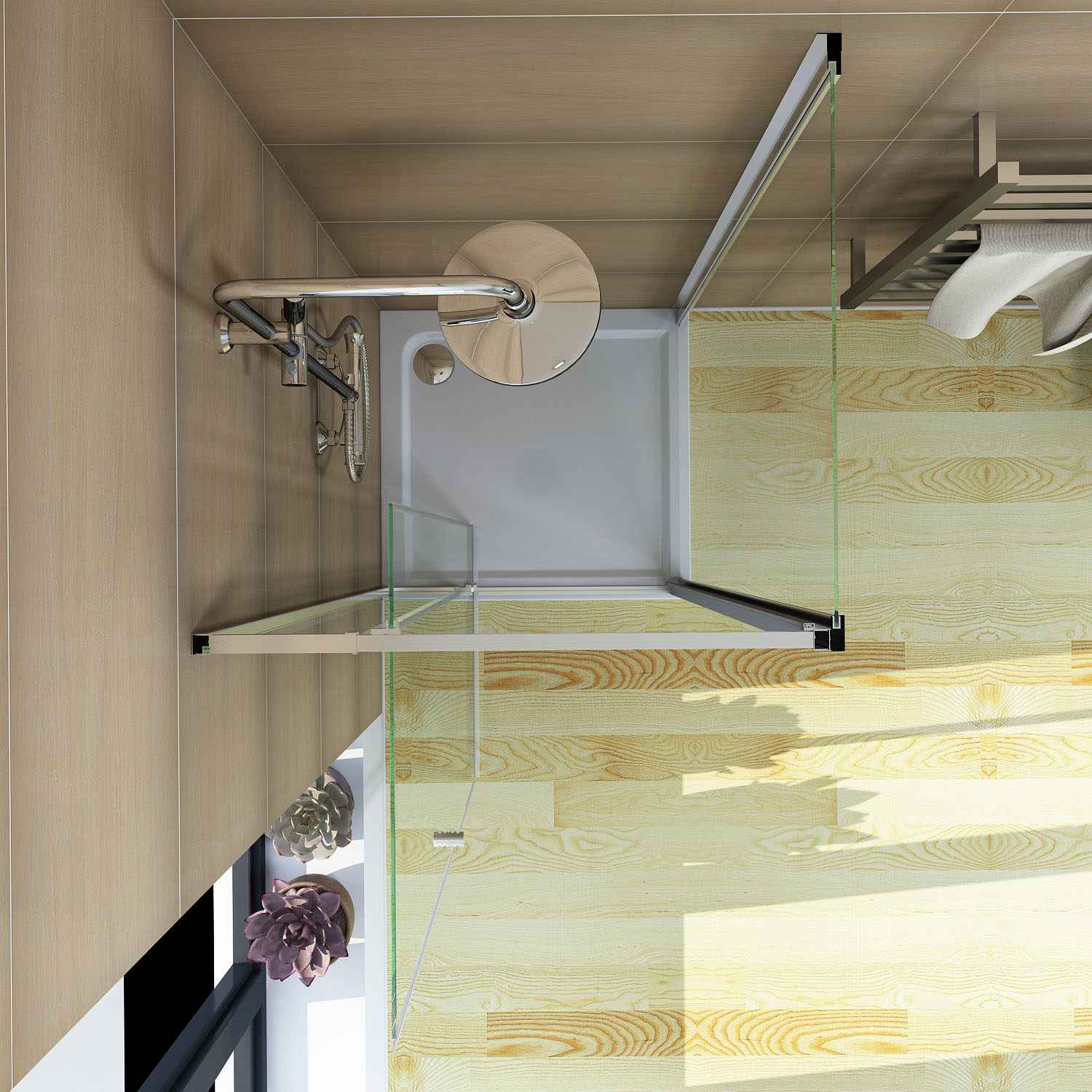 1200x900mm Semi Frameless Shower Screen Pivot Door Width