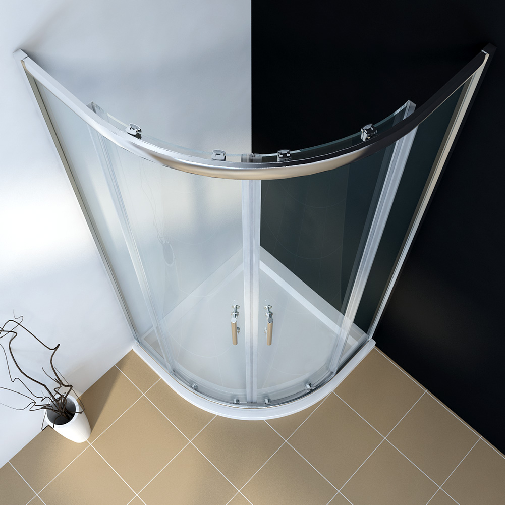 New Round Curved Shower Screen Double Sliding Door