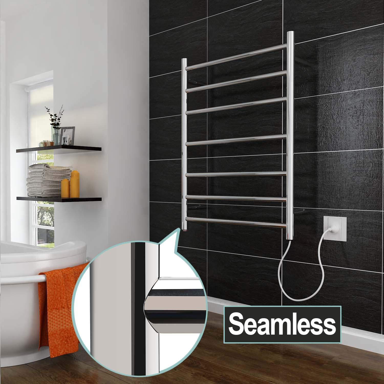 Braddan Stainless Steel Modern Towel Warmer Heated Towel: NEW Electric Heated Towel Rail Warmer Rack Stainless Steel