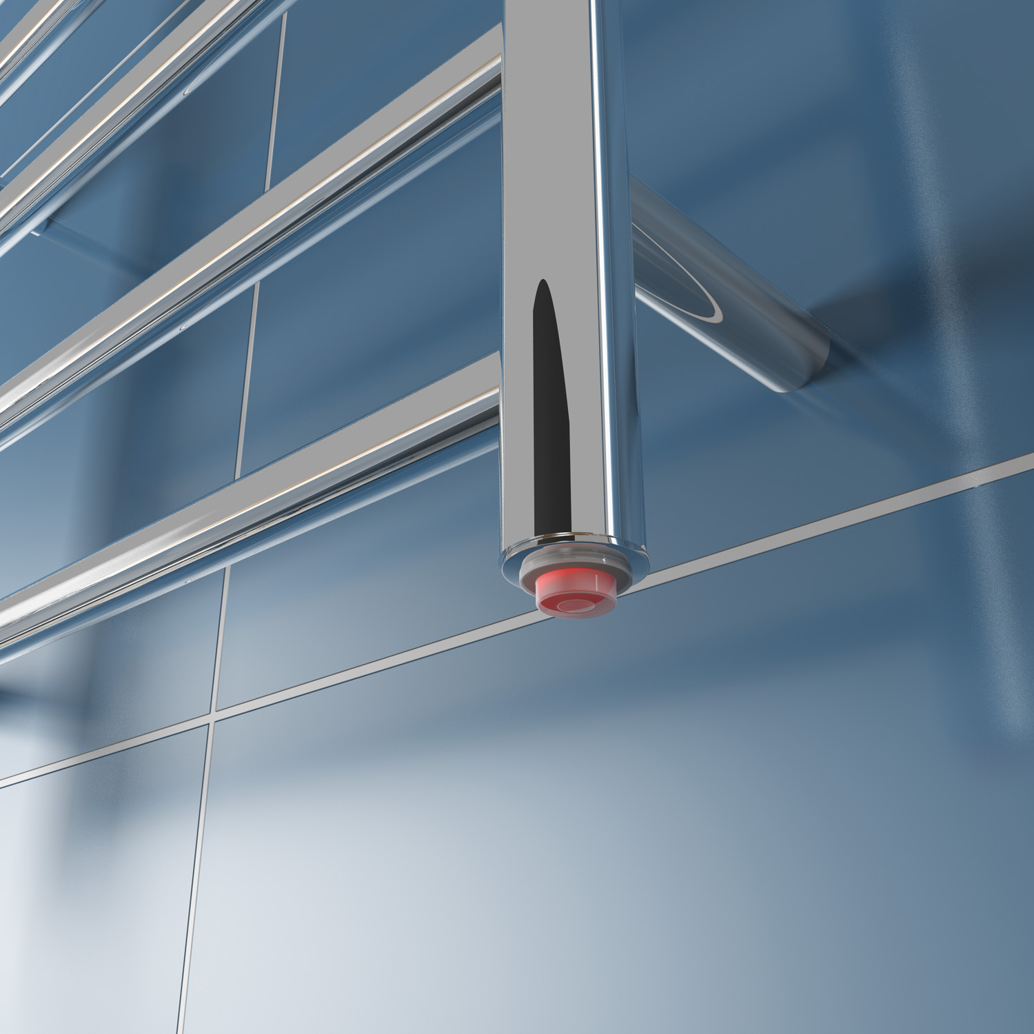 New Electric Heated Towel Rail Stainless Steel Warmer Wall