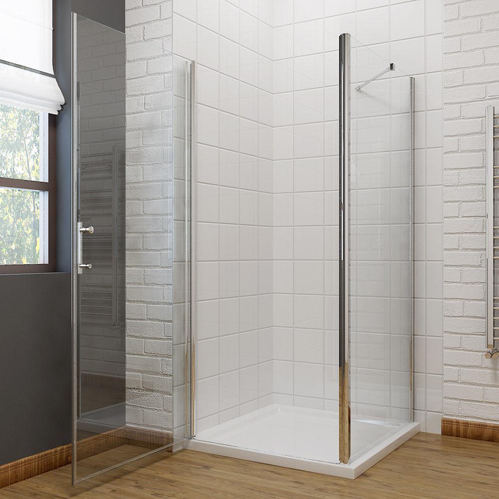Square Frameless Pivot Door Shower Screen Enclosure