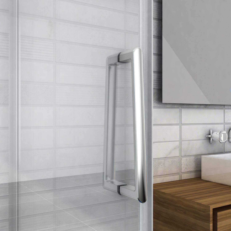 900 1200x1950mm Frameless Wall To Wall Shower Screen Pivot