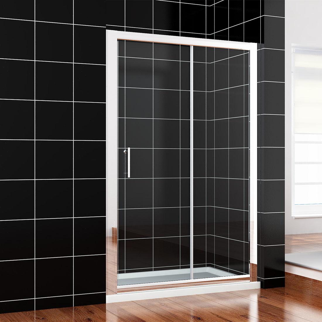 Wall To Wall Sliding Door Shower Screen Enclosure Width Adjustable