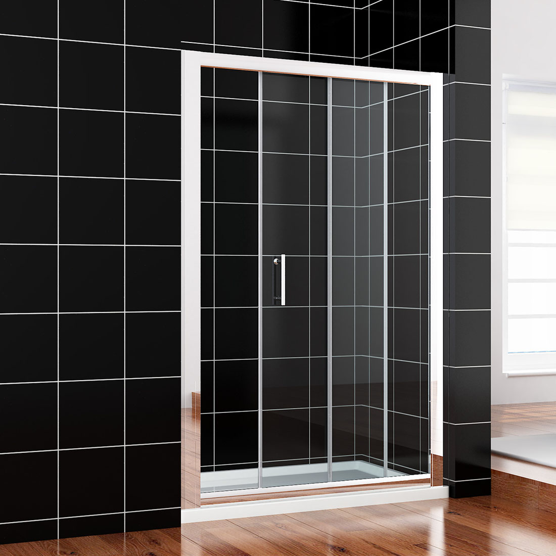 Wall To Wall Sliding Door Shower Screen Enclosure Width