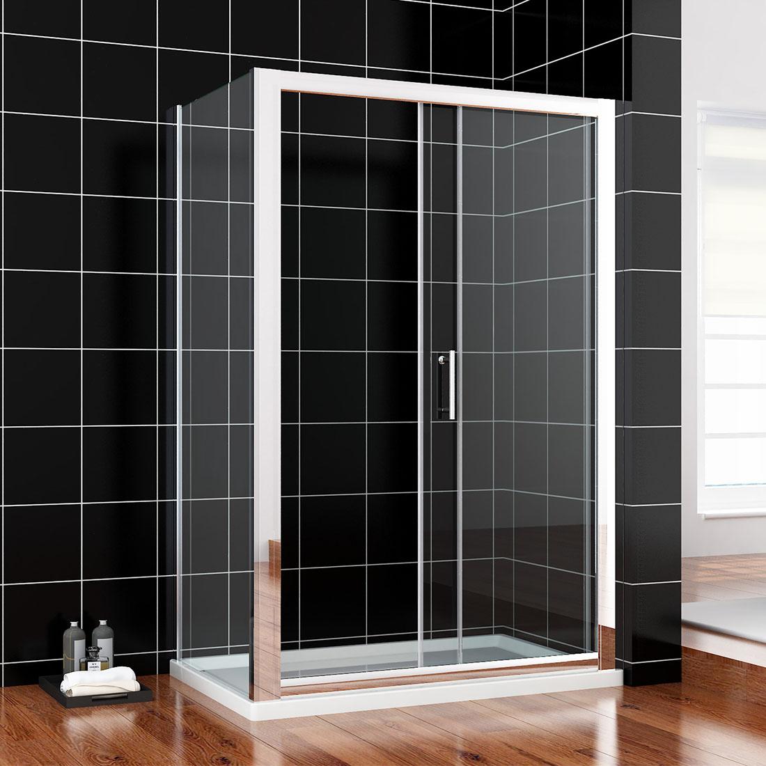 Details About Framed Sliding Door Bottom Seal Bath Shower Screen 150x76cm