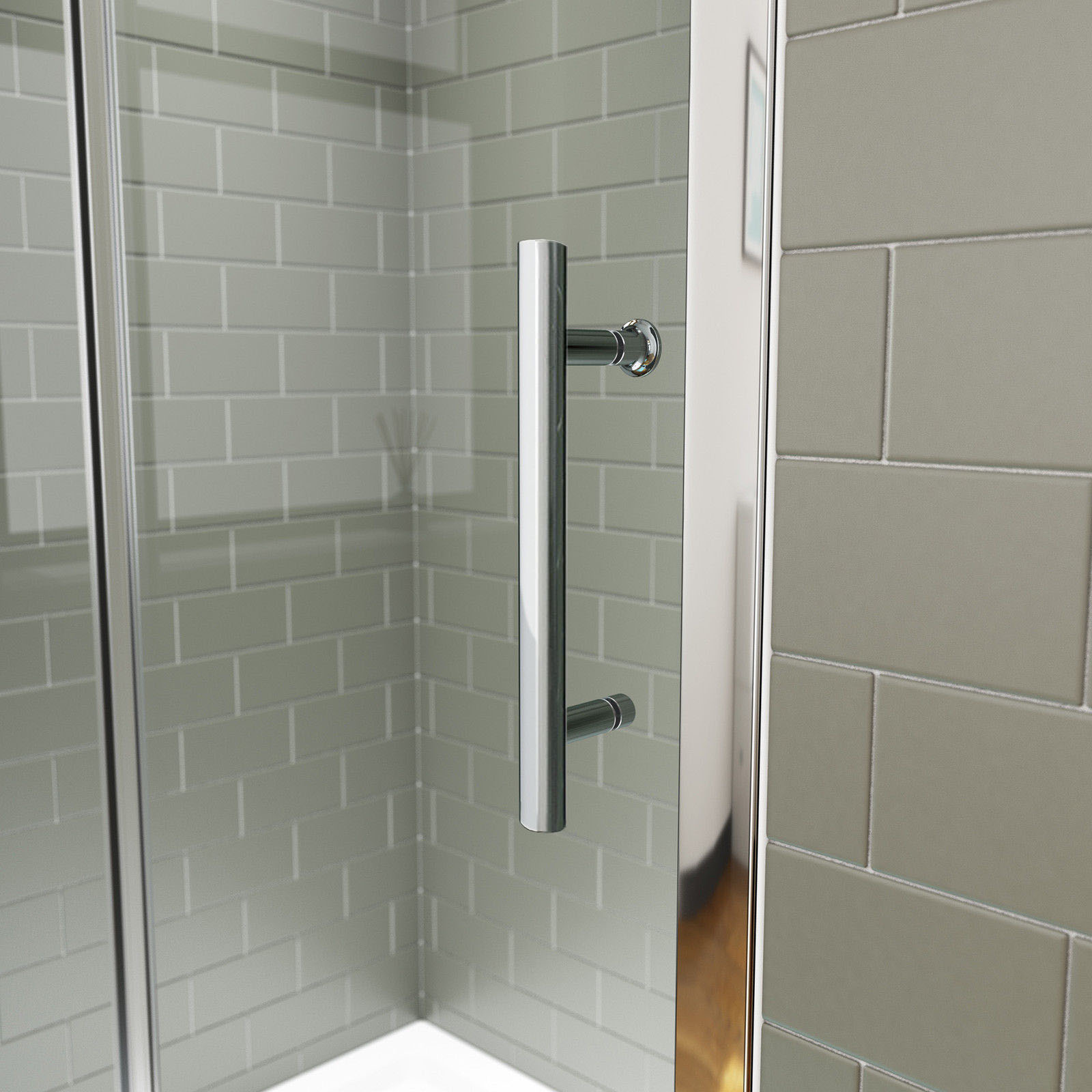 New shower screen enclosure wall to wall framed sliding for New sliding screen door