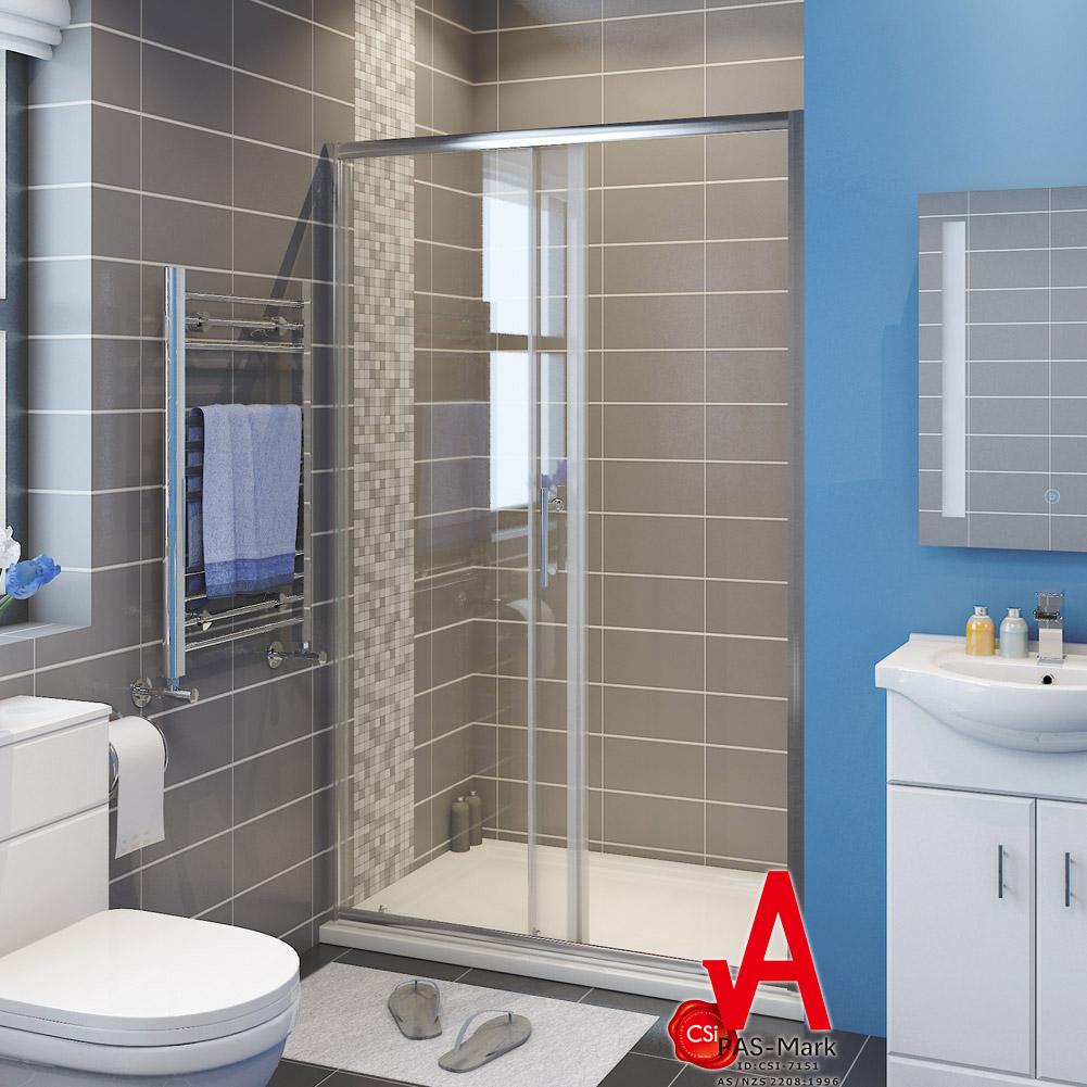 1000 1700mm wall to wall flamed sliding door shower screen for 1700 high shower door