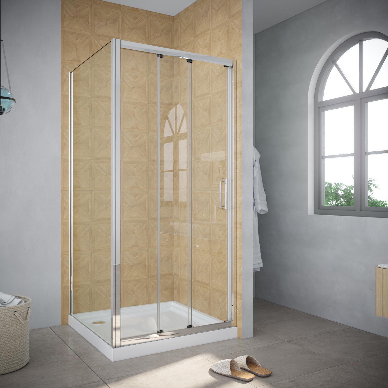 Details About 3 Panel Sliding Door Shower Screen Door Bottom Seal Multi Size Side Panel