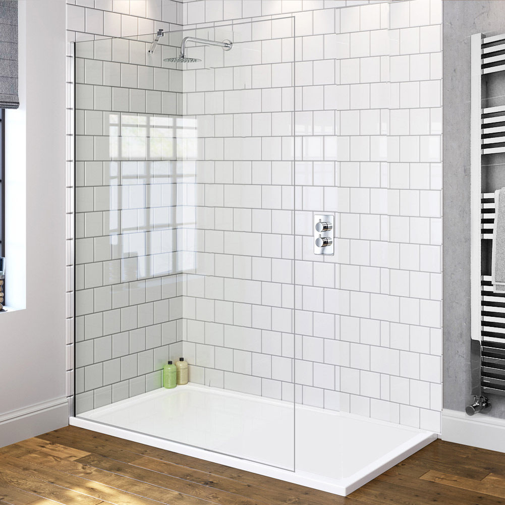 Brand New 1100x2000mm Walk In Shower Screen Enclosure Fixed Panel ...