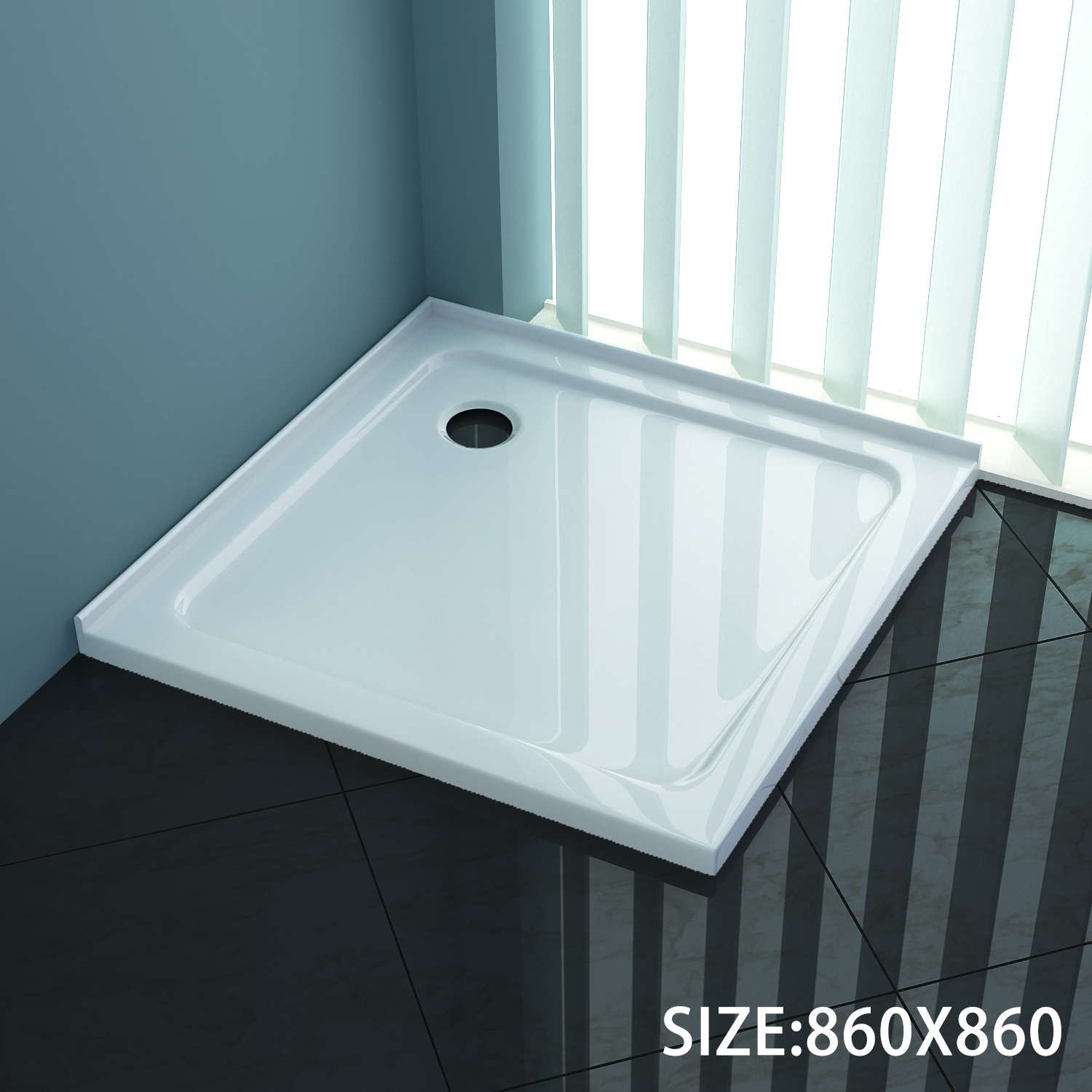 865x865x50mm Square Durable Acrylic Fiberglass Shower Base Australia ...