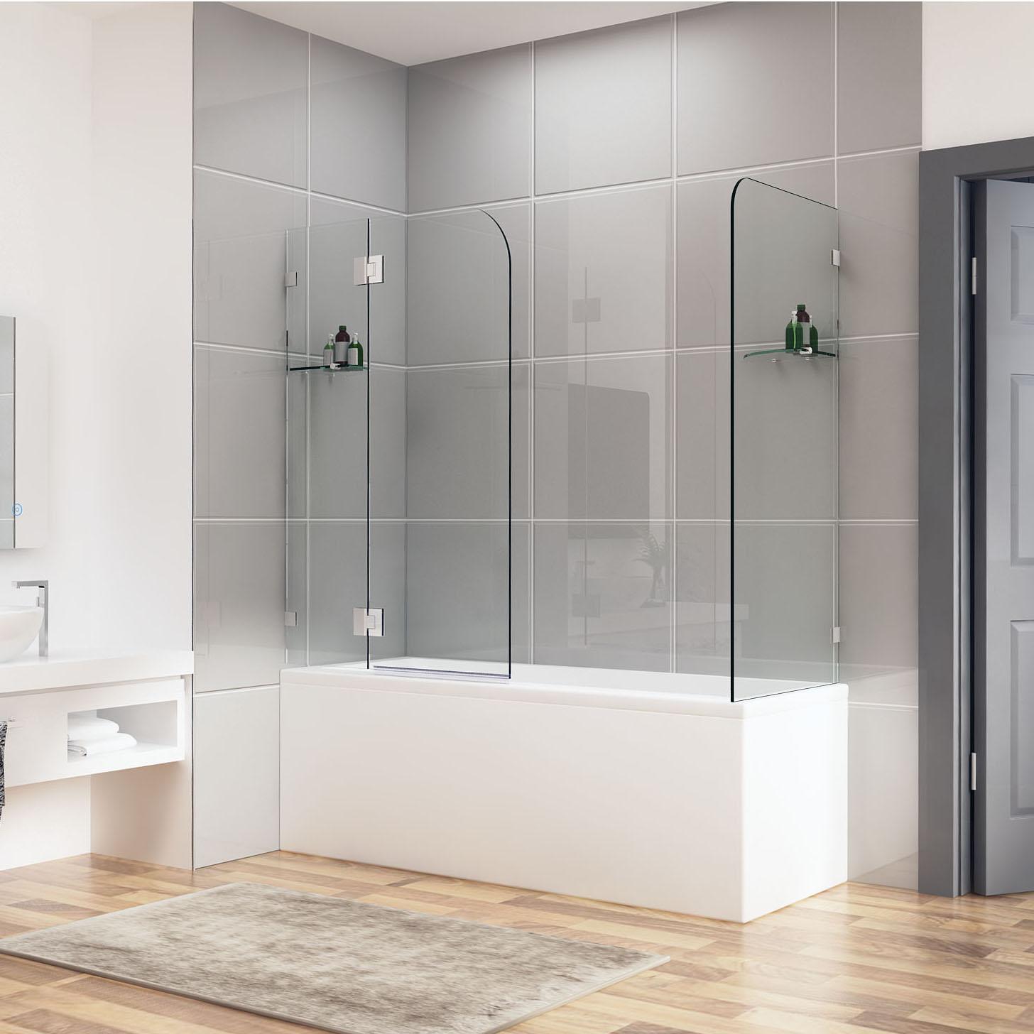 900 1000x700 800 900 frameless over bath shower screen. Black Bedroom Furniture Sets. Home Design Ideas